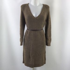 Michael Kors Brown Knit  Dress Size Large